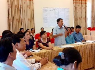 Training course on implementing social audit process and workshop on sharing the result of social audit of water supply services for communities in Tra Vinh province